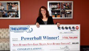 Mavis Wanczyk ganó el premio de lotería más grande del mundo